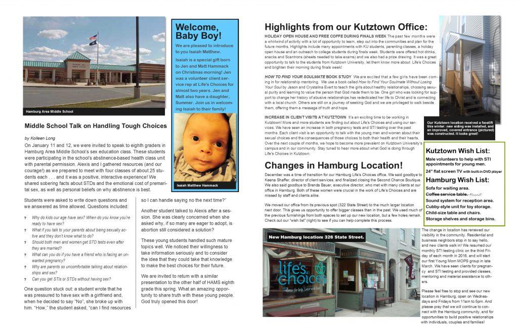 spring newsletter take 2 p 4n5