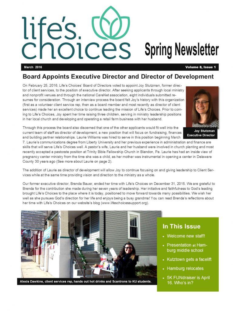 spring newsletter take 2 p1