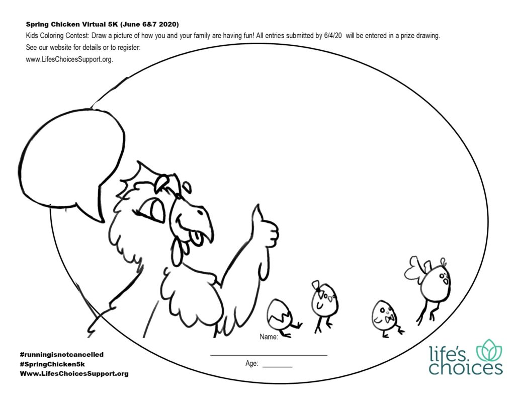 spring chicken coloring contest